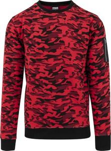 Czerwony sweter Urban Classics w młodzieżowym stylu
