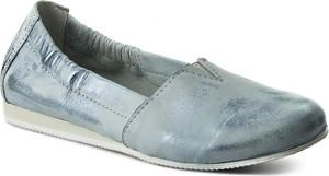 Niebieskie półbuty sergio bardi z płaską podeszwą w stylu casual