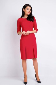 Czerwona sukienka Awama midi