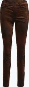 Brązowe spodnie MAC w stylu retro