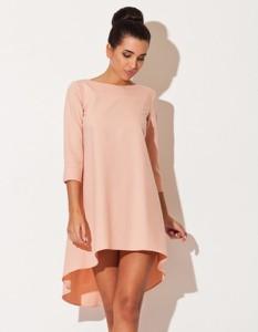 Sukienka LENITIF asymetryczna z długim rękawem