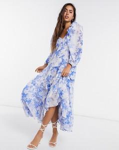 Sukienka Asos z długim rękawem midi