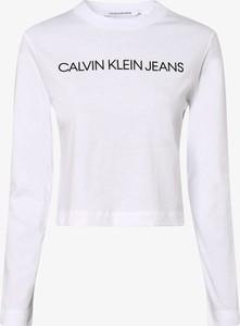 T-shirt Calvin Klein z długim rękawem z okrągłym dekoltem
