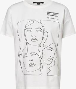 T-shirt comma, z bawełny w młodzieżowym stylu z krótkim rękawem