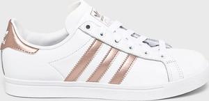 Trampki Adidas Originals z płaską podeszwą niskie ze skóry