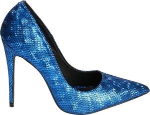 Niebieskie szpilki Vices na wysokim obcasie w stylu klasycznym