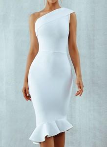 Sukienka Sandbella bez rękawów z okrągłym dekoltem midi