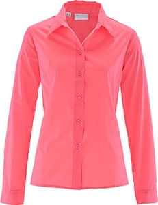 Różowa koszula bonprix bpc selection z długim rękawem