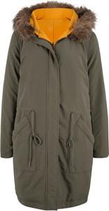 Zielony płaszcz bonprix bpc bonprix collection