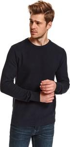 Sweter Top Secret z tkaniny w stylu casual z okrągłym dekoltem