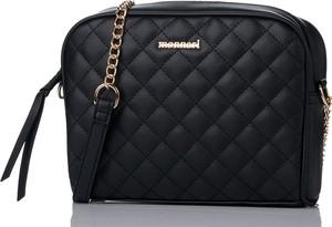 Czarna torebka Monnari w stylu glamour na ramię