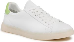 Buty sportowe Tamaris sznurowane ze skóry ekologicznej z płaską podeszwą