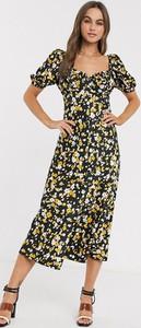 Sukienka Asos Design z dekoltem w kształcie litery v z krótkim rękawem maxi