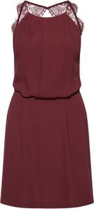 Czerwona sukienka Samsøe & Samsøe bez rękawów mini
