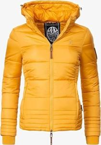 Żółta kurtka Marikoo krótka w stylu casual