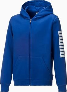 Niebieska bluza dziecięca Puma dla chłopców
