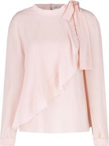 Bluzka Max & Co. z jedwabiu ze sznurowanym dekoltem