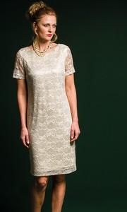 Sukienka Risca z krótkim rękawem