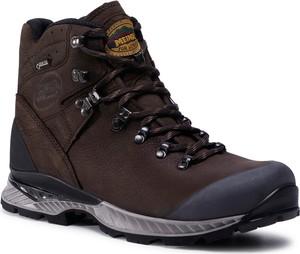 Brązowe buty trekkingowe Meindl