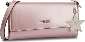 Różowa torebka Trussardi Jeans