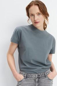 Turkusowy t-shirt Mohito