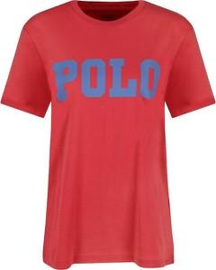 Czerwony t-shirt POLO RALPH LAUREN z krótkim rękawem