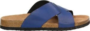 Niebieskie buty letnie męskie Big Star ze skóry