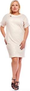 Sukienka Fokus z okrągłym dekoltem z krótkim rękawem