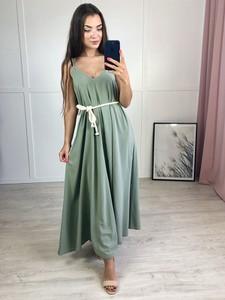 Zielona sukienka Produkt Włoski maxi