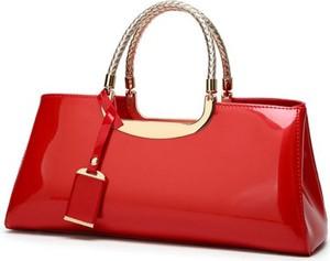 Czerwona torebka Cikelly średnia matowa