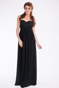 Czarna sukienka TAGLESS maxi bez rękawów