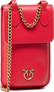 Czerwona torebka Pinko na ramię matowa mała