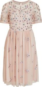 Sukienka Vila mini z krótkim rękawem z okrągłym dekoltem