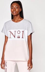 T-shirt Plny Lala z krótkim rękawem w młodzieżowym stylu z bawełny