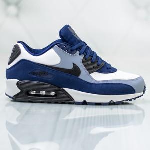 pretty nice 76db6 1e2a9 ... AIR MAX LUNAR 90. Niebieskie buty sportowe Nike sznurowane w sportowym  stylu