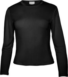 Czarna bluzka So Fluffy w stylu casual