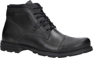 Buty zimowe Casu ze skóry sznurowane