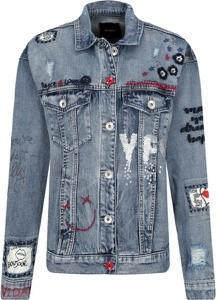 Niebieska kurtka Desigual w stylu casual z jeansu