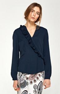 Granatowa bluzka Merg z długim rękawem