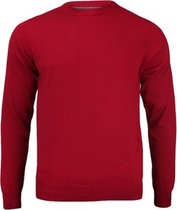 Czerwony sweter Adriano Guinari z bawełny