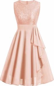Sukienka Sandbella z szyfonu bez rękawów