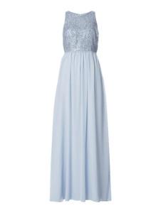 Niebieska sukienka Jake*s bez rękawów z dekoltem w kształcie litery v z szyfonu