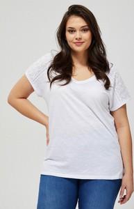 Bluzka Moodo z krótkim rękawem z bawełny