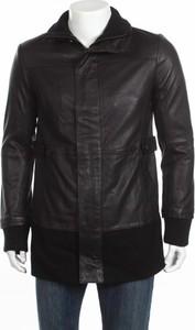 Czarna kurtka Adidas ze skóry