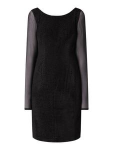 Czarna sukienka S.Oliver Black Label z długim rękawem
