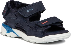 Buty dziecięce letnie Ecco ze skóry na rzepy
