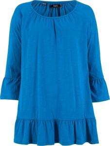 Bluzka bonprix bpc bonprix collection z długim rękawem z okrągłym dekoltem w stylu casual