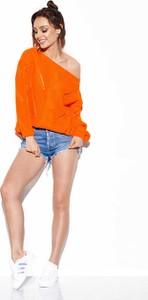 Pomarańczowy sweter Lemoniade w stylu casual