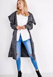Czarny sweter Zoio w stylu casual