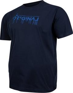 T-shirt Bigsize z bawełny z krótkim rękawem